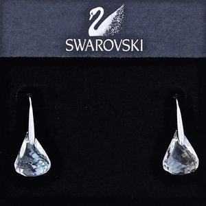 SWAROVSKI~lunar~DROP EARRINGS~Clear/Silver